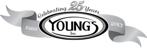Young's Inc 25 Years Logo